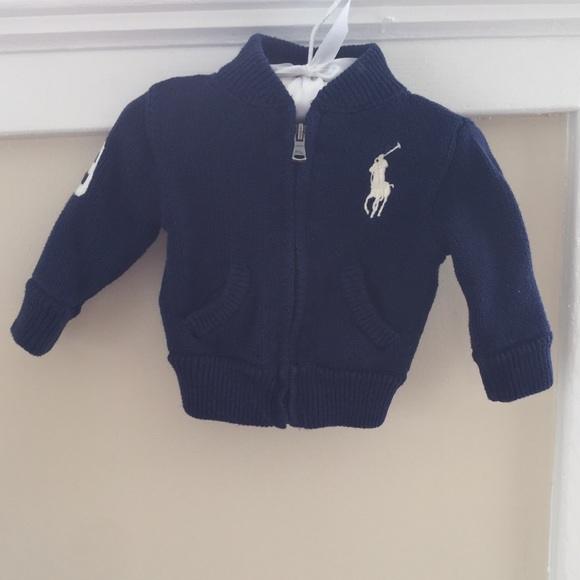 Ralph Lauren Other - Ralph Lauren Baby Boy Navy Zip-Up Cardigan 6M